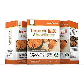 Kurkuma Pro mit BioPerine 12.500 mg 95 % Curcuminoide - 180 Kapseln - Fatburner - Evolution abnehmen