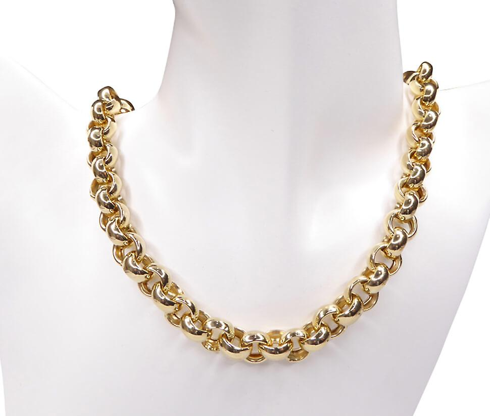 Jasseron yellow gold necklace