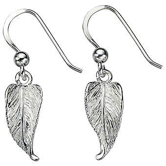 Begynnelse blad Drop øredobber - sølv