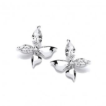 Cavendish French 'Float Like a Butterfly' Cubic Zirconia Earrings