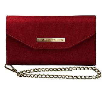 iDeal of Sweden Mayfair Clutch Velvet pour iPhone XS Max-Red