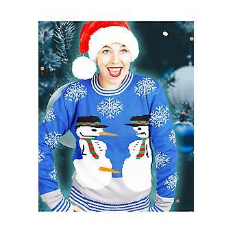 Hombres trajes de Navidad muñeco de nieve sucia de suéter para los hombres y las mujeres