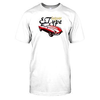 Jaguar E-Type-esportes carro Mens T-shirt
