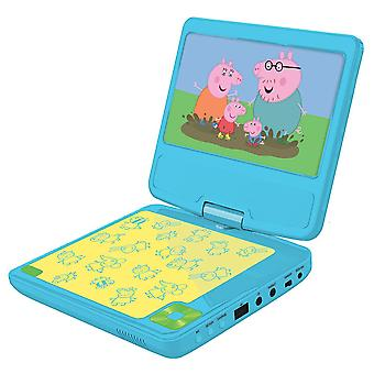 Lexibook Peppa Pig Portable DVD Player with Car Adaptor and Remote (DVDP6PP)