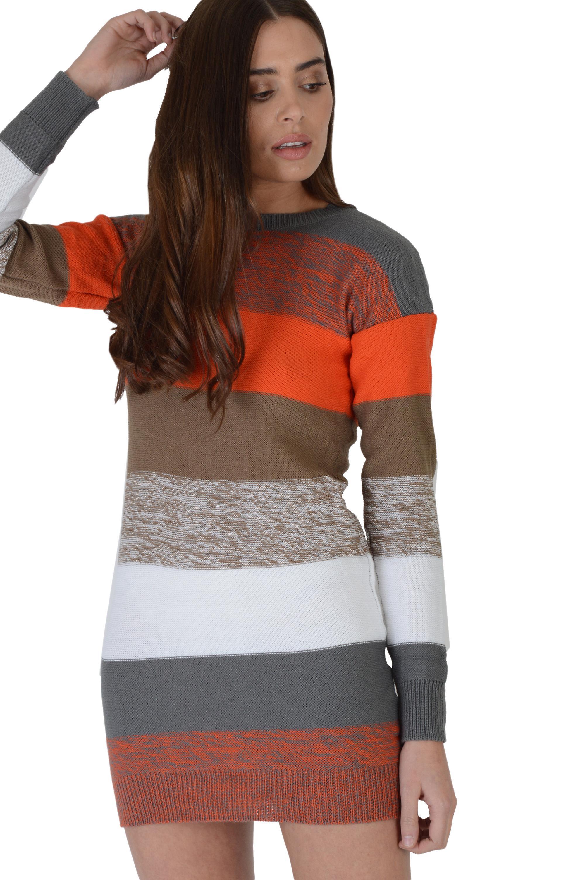 Lovemystyle Petite Long Sleeved Short Stripey Jumper Dress
