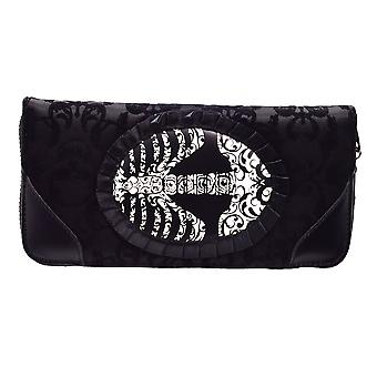 Banned Vine Black Ribcage Lace Purse