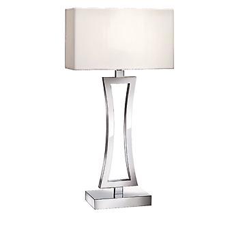 Chrome lampe de Table incurvée avec abat-jour - projecteur 4081CC-1