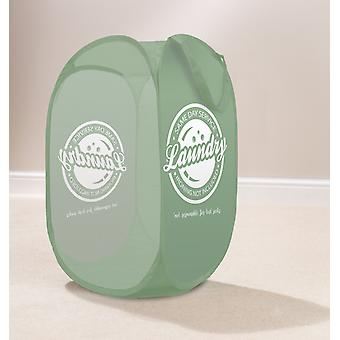 Country Club Pop Up Laundry Hamper, Same Day Green