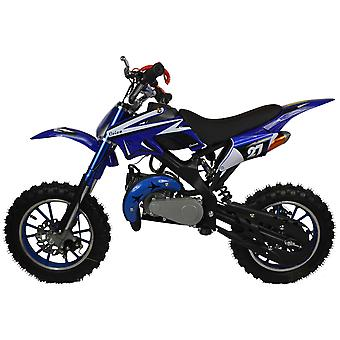 Zipper 50cc Petrol Mini Kids Dirt Motorbike - Blue