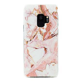 Samsung Galaxy S9 | Zachte, roze marmeren behuizing