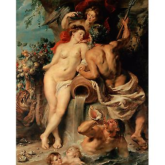 The Union of Earth and Water,Peter Paul Rubens,50x40cm
