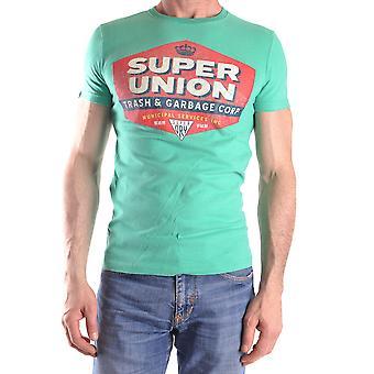 Superdry Ezbc114004 Männer's grüne Baumwolle T-shirt