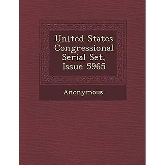 USA Kongressens serie sat spørgsmål 5965 af anonym