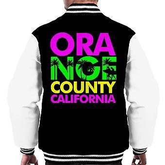 Orange County Retro kleur tekst mannen Varsity Jacket