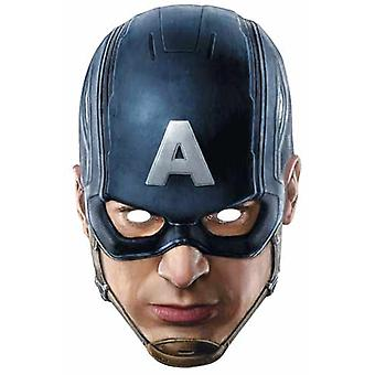 Captain America Avengers Alder af Ultron Single Card Party Fancy Dress Mask