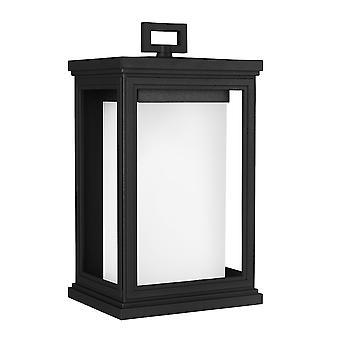 Stead-1 Light Medium Wall Laterne-Textured Black Finish-FE/ROSCOE/M