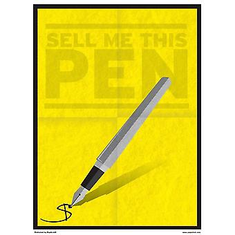 Grindstore Minimal Movies Sell Me This Pen Mini Poster