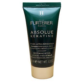 Rene Furterer Absolue Keratine Ultimate Renewal Mask Damaged Brittle Hair 1.0 OZ