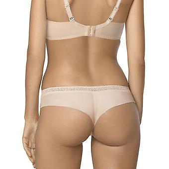 Nipplex Women's Selma Beige Embroidered Panty Thong