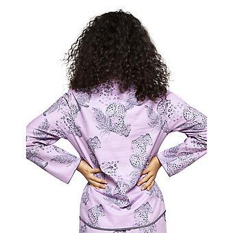 Cyberjammies 4181 Women's Laura Pink Mix Leopard Print Cotton Pyjama Top
