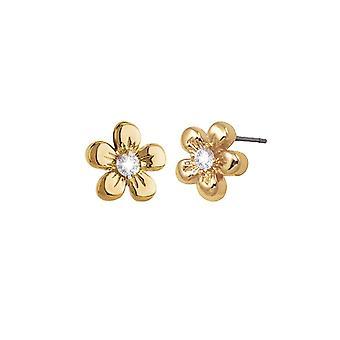 Éternelle Collection Floro Gold Tone fleur Stud boucles d'oreilles