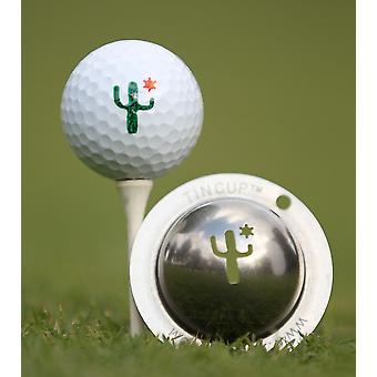 Tin Cup Golf Ball mærkning system kaktus Cantina