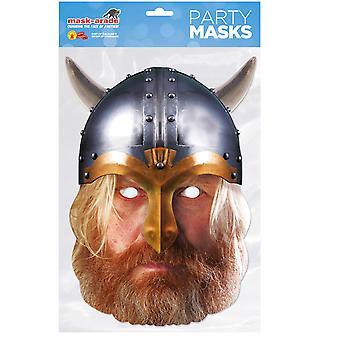 Viking Historical Single 2D Card Party Fancy Dress Mask