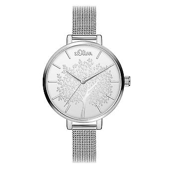 s.Oliver Women's Watch Wristwatch Stainless Steel SO-3835-MQ