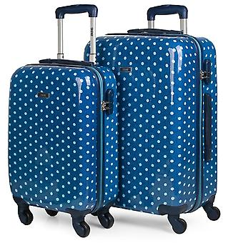 Set 2 Travel Suitcases Size Cabin and Medium Model Skpat Topos 66400