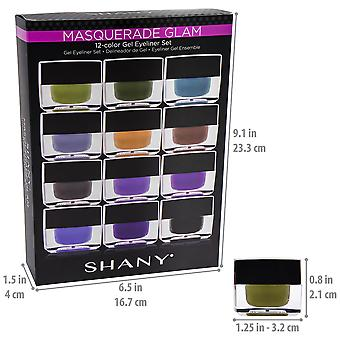SHANY Smudge todiste geeli eyeliner Set-Set of 12 väriä-naamiaiset