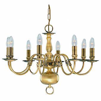 8 luz lustre de bronze antigo acabamento