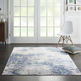 Silky Textures Rugs Sly01 By Nourison In Ivory Blue