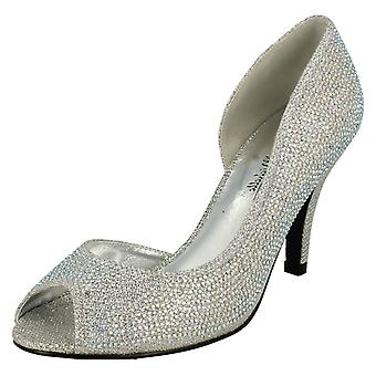 Ladies Anne Michelle Cut Out Side/Peep Toe Occasion Shoes