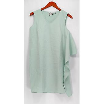 Linea de Louis Dell'Olio Petite Dress Sin Mangas Verde A302556