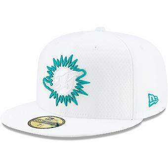 New Era 59Fifty Cap - PLATINUM Sideline NFL Miami Dolphins