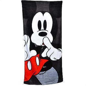 Mickey Mouse Shhh 28x58 Beach Towel