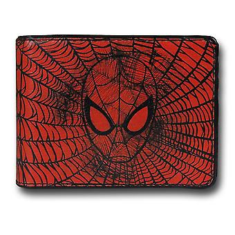Spider-Man Face Web Bi-Fold Portefeuille