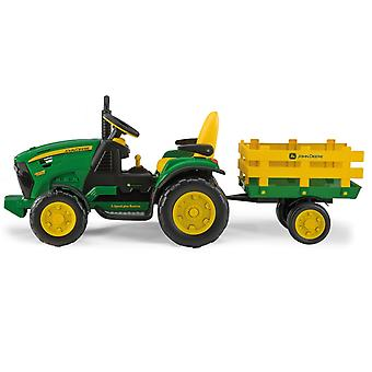 Peg Perego John Deere Ground Force 12V Ride on Tractor With Trailer Ages 3
