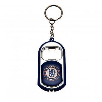 Chelsea FC Official Football Crest Bottle Opener Keyring With Torch