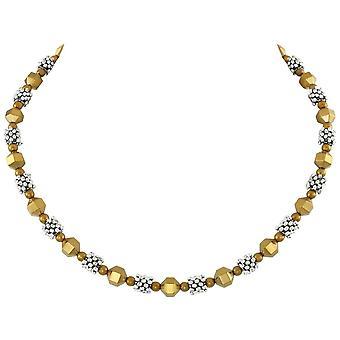 المجموعة الأبدية أبولو الفضة والذهب قلادة الخرز الهيماتيت
