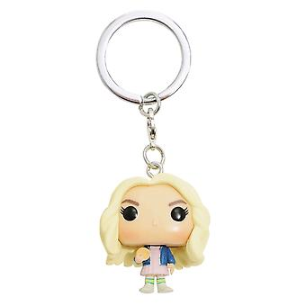 Stranger Things Eleven with Wig US Pocket Pop! Keychain