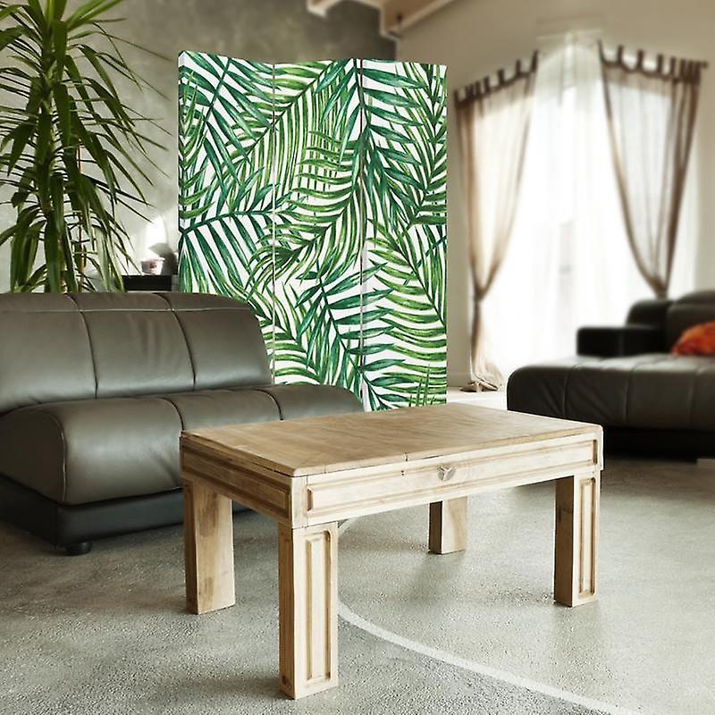 Diviseur de pièce, 3 panneaux, unilatéral, toile, composition des brindilles