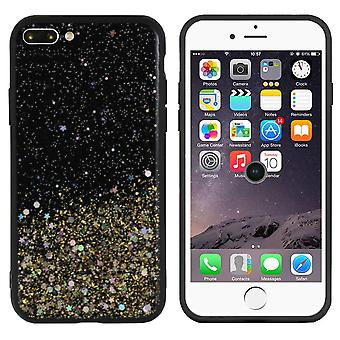 BackCover Spark Glitter TPU - PC pour Apple iPhone 8 Plus - 7 Plus Gold