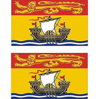 2 X Aufkleber Aufkleber Auto Vinyl Macbook Flagge Kanada New Brunswick