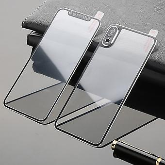 Titanium Foil Tempered Glass Black Front + Rear Tank for Apple iPhone XS Max Protection