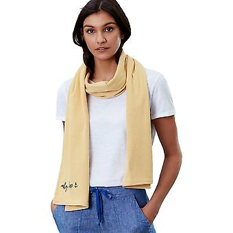 Joules Womens Coast Cotton Embroidered Striped Jersey Scarf