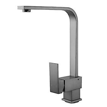 Gunmetal Grey 360 Degree Swivel Kitchen Sink Mixer Tap Solid Brass