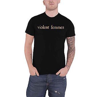 Violent Femmes T Shirt Salmon Pink Vintage Logo new Official Mens Black
