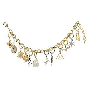 Harry Potter Charm Bracelet Hogwarts Hedwig Deathly Hallows new Official