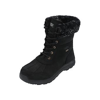 UGG Adirondack III Leopard Ladies Boots Black Lace-Up Boots Winter
